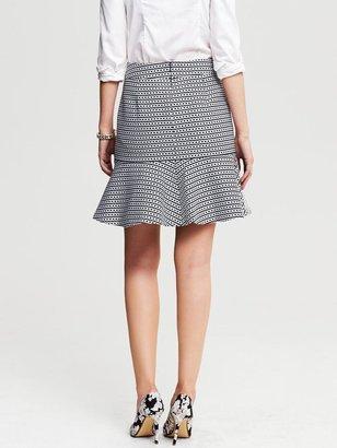 Banana Republic Chain Print Flounce Skirt