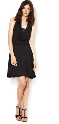Plenty by Tracy Reese Jersey Cowl Flared Dress