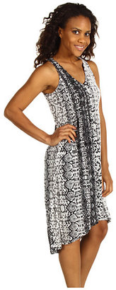 Kenneth Cole New York Python Stripe Micro Pleat Dress