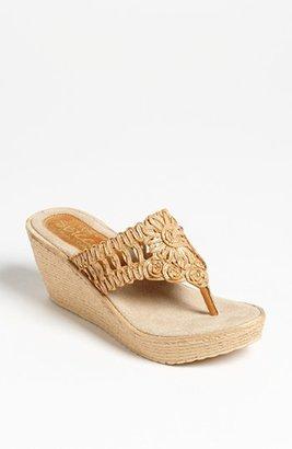 Sbicca 'Kalani' Flip Flop Wedge Sandal