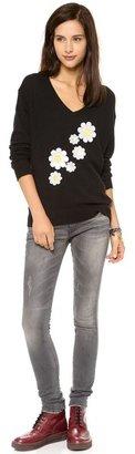 Wildfox Couture Daisy Sash V Neck Sweater