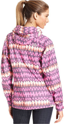 The North Face Jacket, Bella Ikat-Print Hooded Waterproof