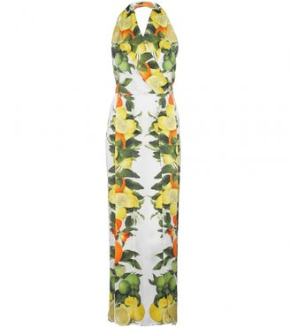 Stella McCartney HALTERNECK DRESS WITH CITRUS FRUIT PRINT