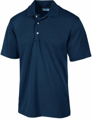 PGA TOUR Men's Airflux Solid Golf Polo Shirt $50 thestylecure.com