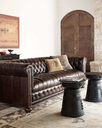 "Old Hickory Tannery Royal 93"" Chesterfield Sofa"