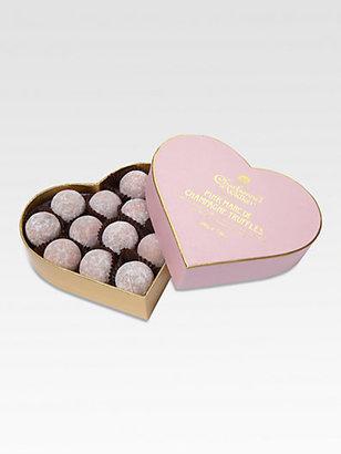 Charbonnel et Walker Pink Marc de Champagne Truffles Heart Box