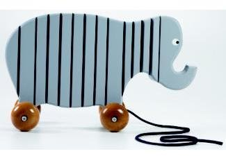 Design Within Reach Wooden Pull Toy - Elephant