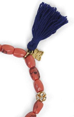 BCBGMAXAZRIA Tassel-Bead Icon Bracelet