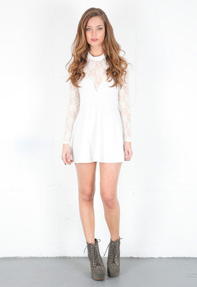 Singer22 For Love & Lemons Tarot Lace Dress in Off White