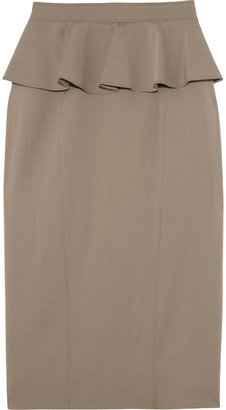 Burberry Stretch-twill peplum pencil skirt
