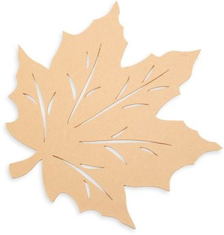 Bed Bath & Beyond Felt Leaf Placemat in Gold