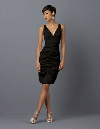 Xscape Evenings Ruched V Neck Dress