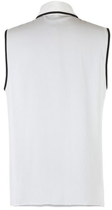Andrew Gn Brown and White Bow Tie Top