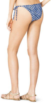 Michael Kors MICHAEL Triangle Beaded Bikini Top & Tie-Side Beaded Swim Bottom