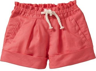 Old Navy Rope-Drawstring Linen-Blend Shorts for Baby