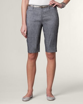 Coldwater Creek Natural linen/rayon shorts