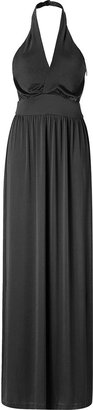 Halston Black Neckholder Long Dress