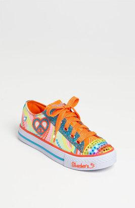 Skechers 'Shuffles - Lights Heart Sparks' Sneaker (Walker, Toddler & Little Kid) Blue Multi 13.5 M