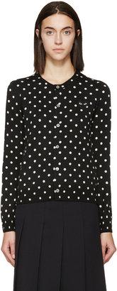 Comme des Garçons Play Black Polka Dot Cardigan $550 thestylecure.com