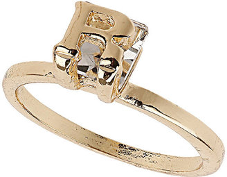 Topshop R Initial Crystal Stone Ring