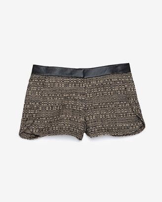 Robert Rodriguez Exclusive Leather Waistband Tweed Trouser Short