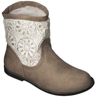 Girl's Cherokee® Syler Crochet Bootie - Tan
