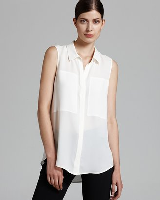 Theory Blouse - Duria Double Georgette Sleeveless