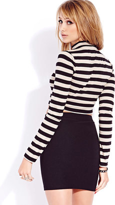 Forever 21 Standout Striped Crop Top