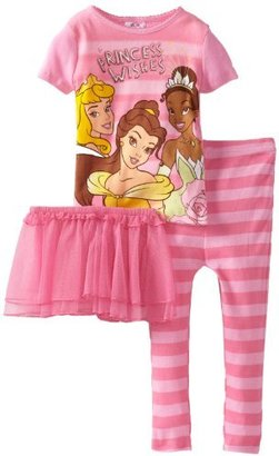 Disney Girls Toddler Princess Wishes Short Sleeve Pajama Set