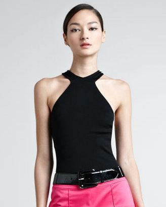 Ralph Lauren Black Label Rachel Cutaway Knit Top