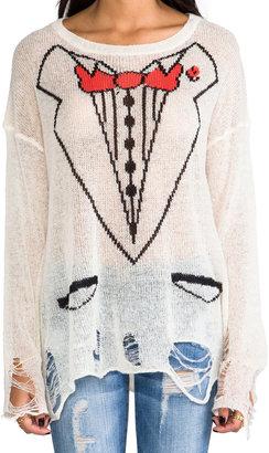 Wildfox Couture White Label Sinatra Lennon Loose Knit