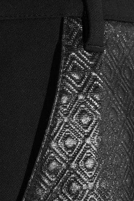 Tibi Embossed jersey skirt