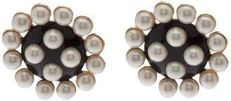 Chanel geometric pearl earring