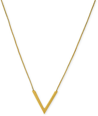 Vince Camuto Necklace, Gold-Tone Single Chevron Pendant