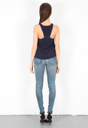 Rory Beca Rock Triangle Back Tank in Deep Blue -