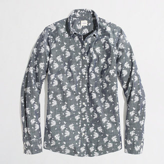 J.Crew Factory Factory classic button-down shirt in printed chambray