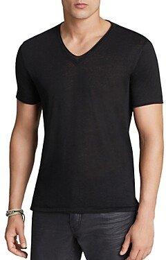 John Varvatos Collection Double-Layer V-Neck Tee