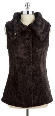 T Tahari Faux Fur Angel Vest