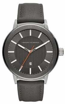 Armani Exchange Quartz Matte Leather Strap Maddox Watch