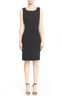 Women's St. John Collection Milano Knit Sheath Dress $795 thestylecure.com
