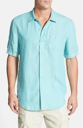 Tommy Bahama 'Party Breezer' Short Sleeve Linen Sport Shirt