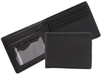 BOSS Leather Bifold Wallet with ID Window