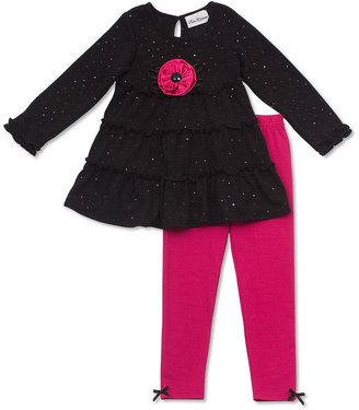 Rare Editions Kids Set, Little Girls Sparkle Dress and Leggings