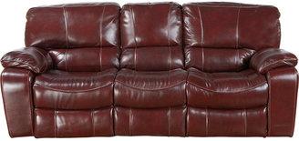 Rooms To Go Sanderson Mahogany Leather Reclining Sofa