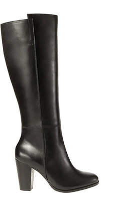 Ann Taylor Phoebe Chunky Heel Tall Leather Boots