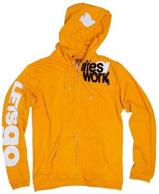 Freecity Lifes Work Y+M Stamp Sherpa Zip Up Sweatshirt