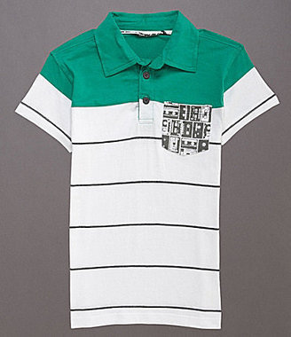 First Wave 8-20 Striped Polo Shirt