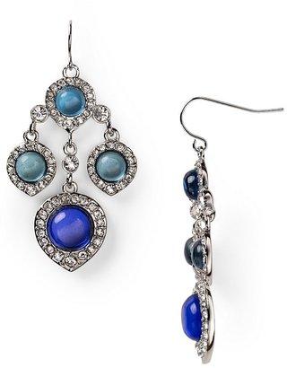 ABS by Allen Schwartz Multi Stone Chandelier Earrings