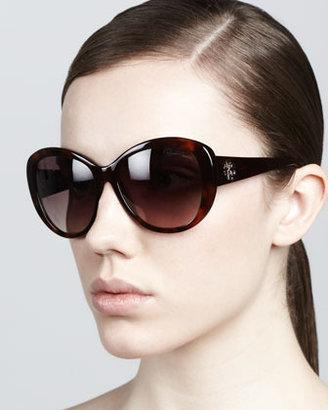 Roberto Cavalli Crest-Temple Sunglasses, Havana