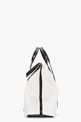 3.1 Phillip Lim Black & White TriColor Leather Hour Bag